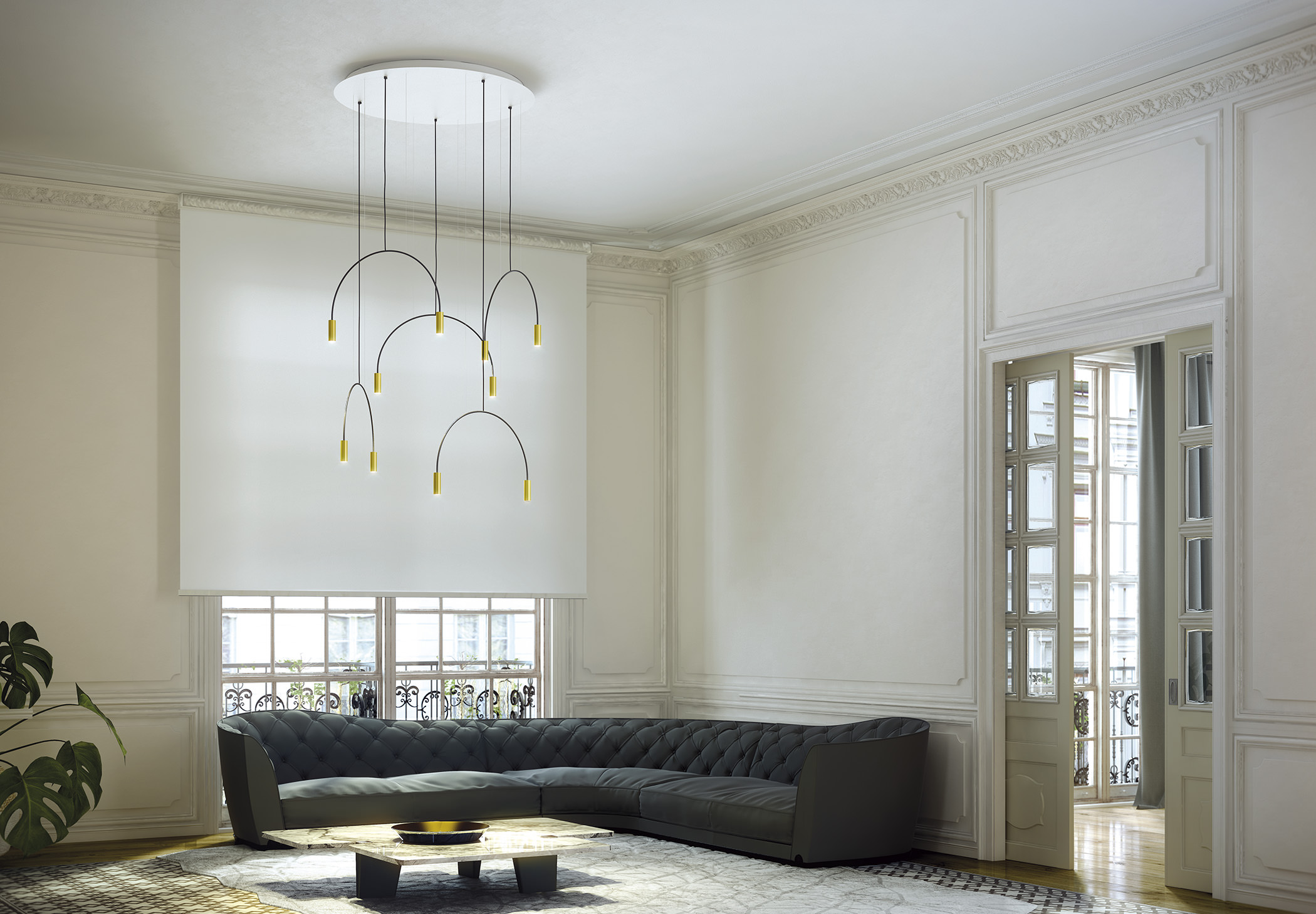 Volta R100.5d Suspension Lamp Estiluz Image Ambient 03
